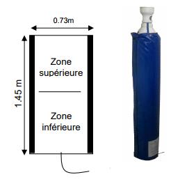 Bâche chauffante pour bouteille de gaz